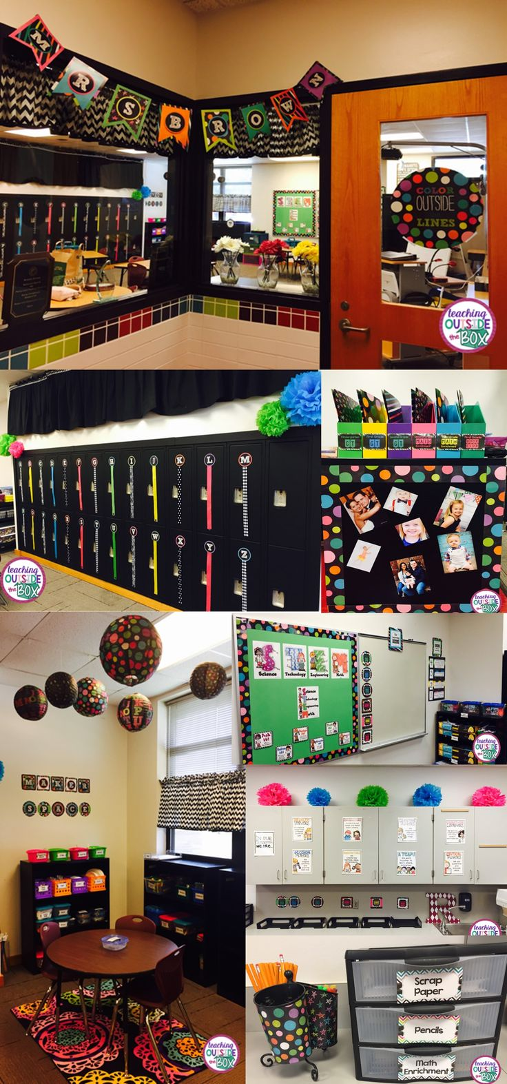 """Welcome to my """"Color me HAPPY"""" Place! Check out my complete classroom makeover and brand new Maker Space! Classroom Reveal 2015-16 