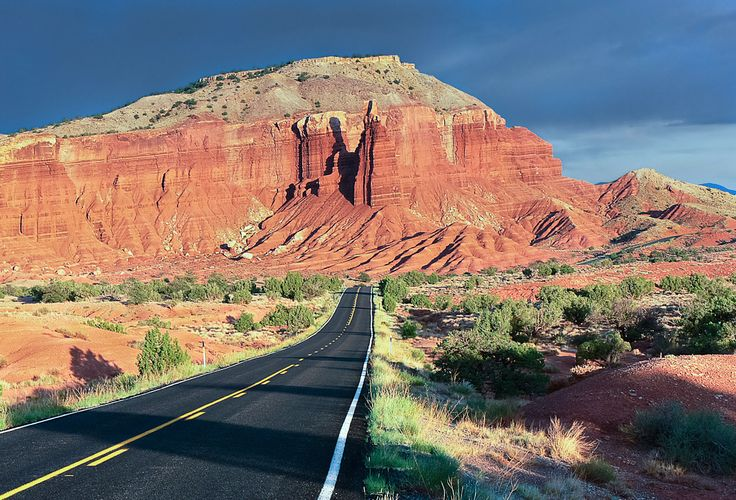 The red rock majesty of #Utah is on triumphant display on State Route 12 winding between Capitol Reef and Bryce Canyon national parks.