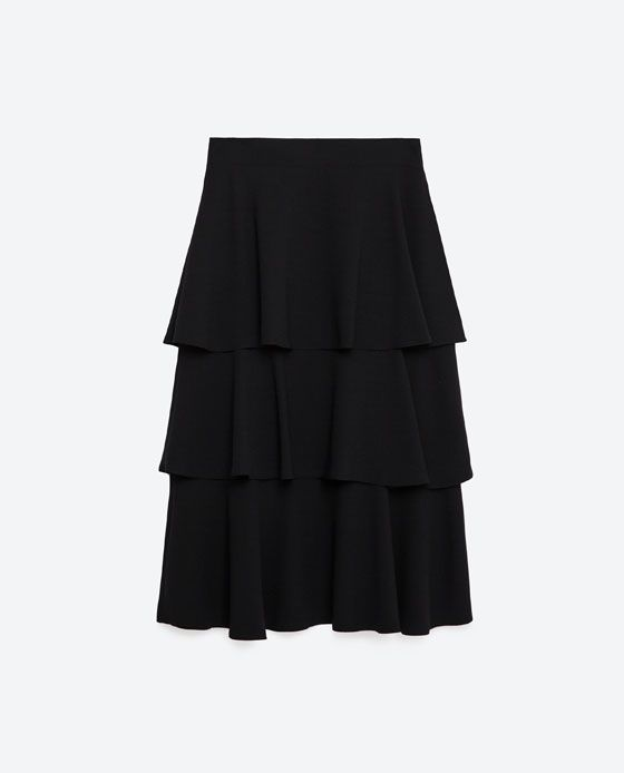 Image 8 of LONG SKIRT WITH FRILLS from Zara