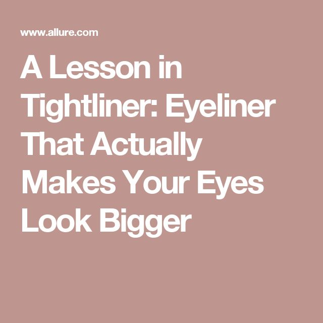 how to make your eyes look bigger with white eyeliner