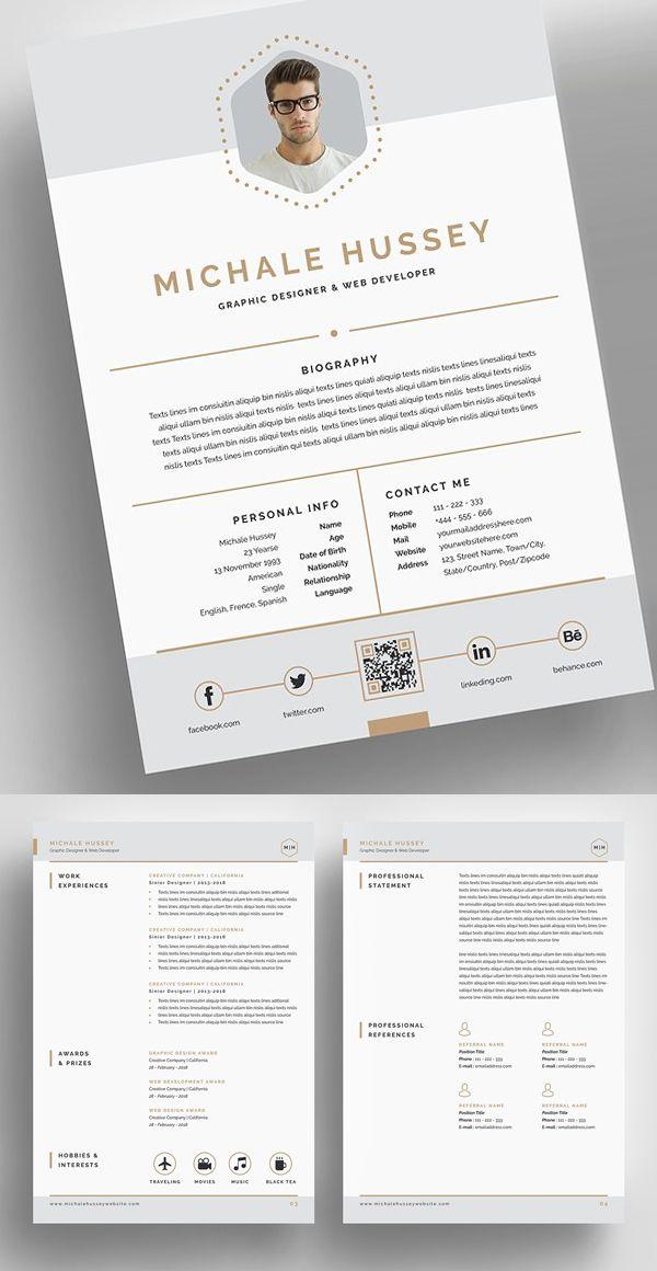 clean resume booklet