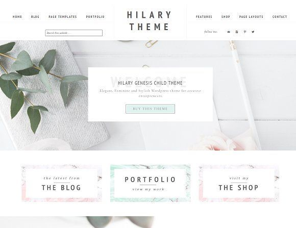 LOOKING FOR A NEW THEME? This one is perfect! Portfolio eCommerce Genesis theme Hi by Lovely Confetti on @creativemarket #ad