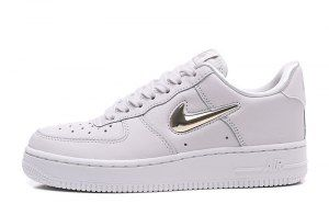uk availability a3c55 d73c2 Nike Air Force 1 `07 Premium LX Gold Jewel Swoosh Phantom Metallic Gold  Star-Summit White AO3814 001 Mens Womens Running Shoes