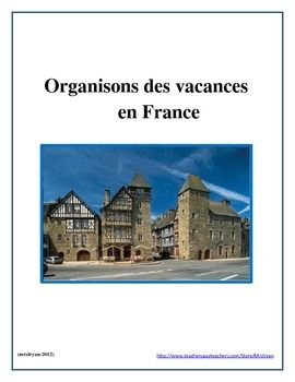 This product allows your students to go on a virtual trip to France!  The presentation format can be technology based or take a more traditional format of posters, brochures, and other handmade work.  Included are the students directions which also have some suggested internet sites on which to find some of their research information.