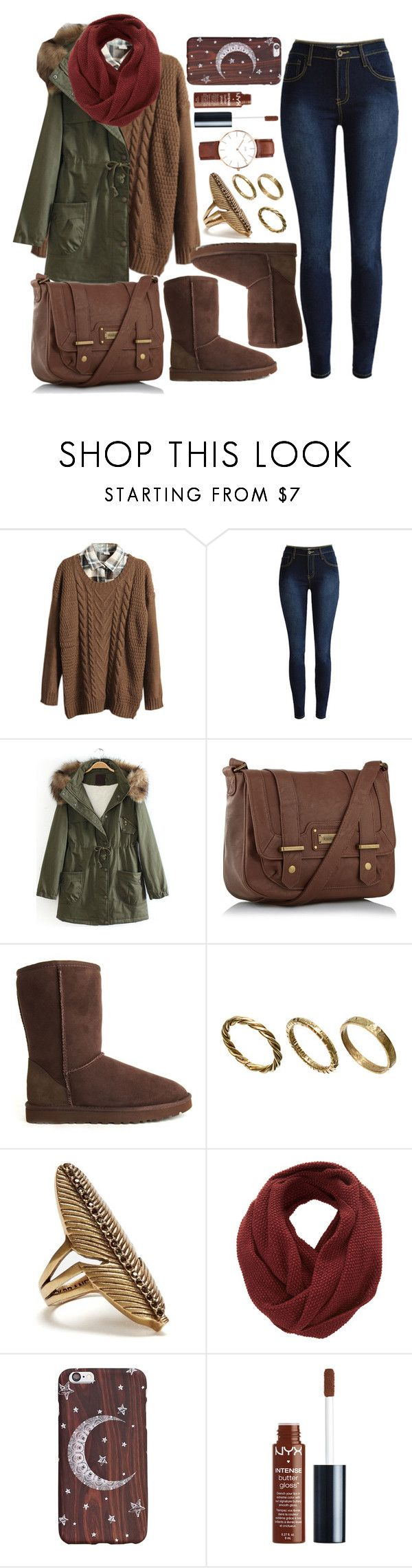 """Untitled #4215"" by natalyasidunova ❤ liked on Polyvore featuring Retrò, kangol, UGG Australia, Made, Lucky Brand, SELECTED, NYX and Daniel Wellington"