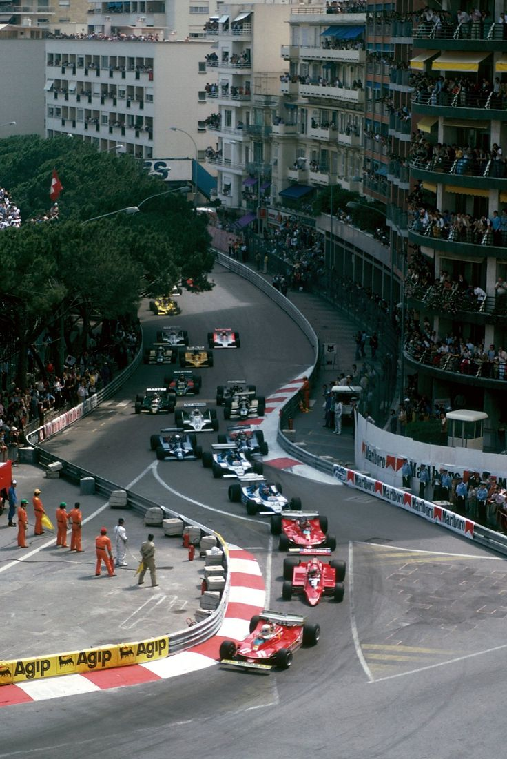 Sainte Dévote - start of the 1979 Monaco Grand Prix