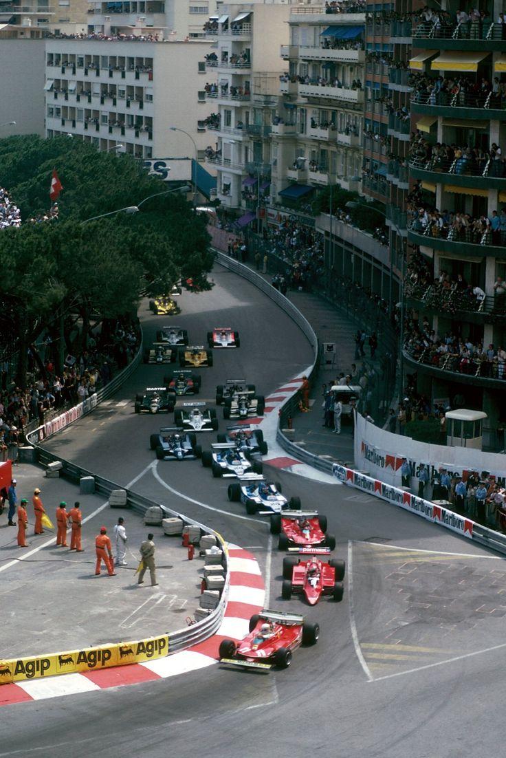 Sainte Dévote - start of the 1979 Monaco Grand Prix