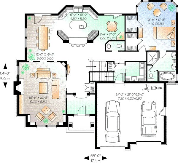 Comfortable Square House Plans Model For Urban Home : Awesome Square House  Plans Modern House Floor Plan