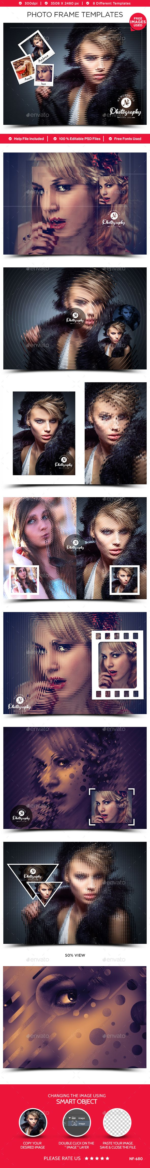 Photo Frame Templates - 8 Designs