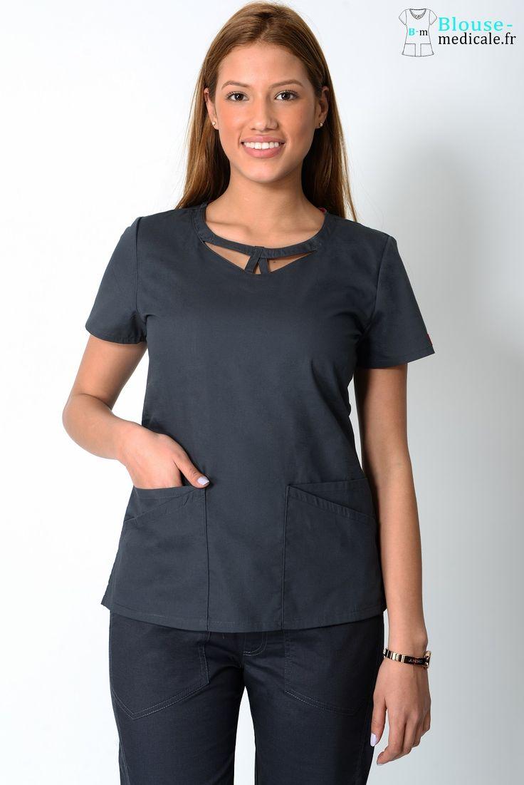 Tunique médicale Dickies Femme 85810 Gris Anthracite