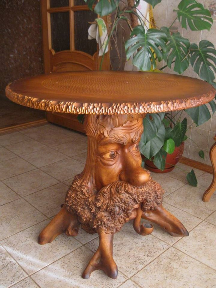 A really neat tree table.  This might creep some people out, but I think it reminds me of the Ents (ROTK).  It's full of personality as my husband would say.