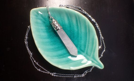 Rose Quartz Satellite Chain  Necklace Handmade Art by WildFernArt