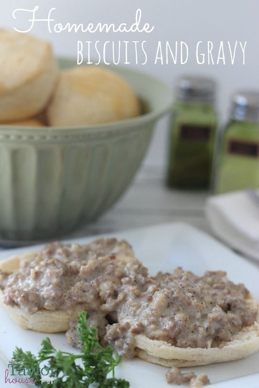 Homemade Biscuits and Gravy, Biscuits and Gravy Recipe, Easy Biscuits and Gravy, Breakfast Recipes