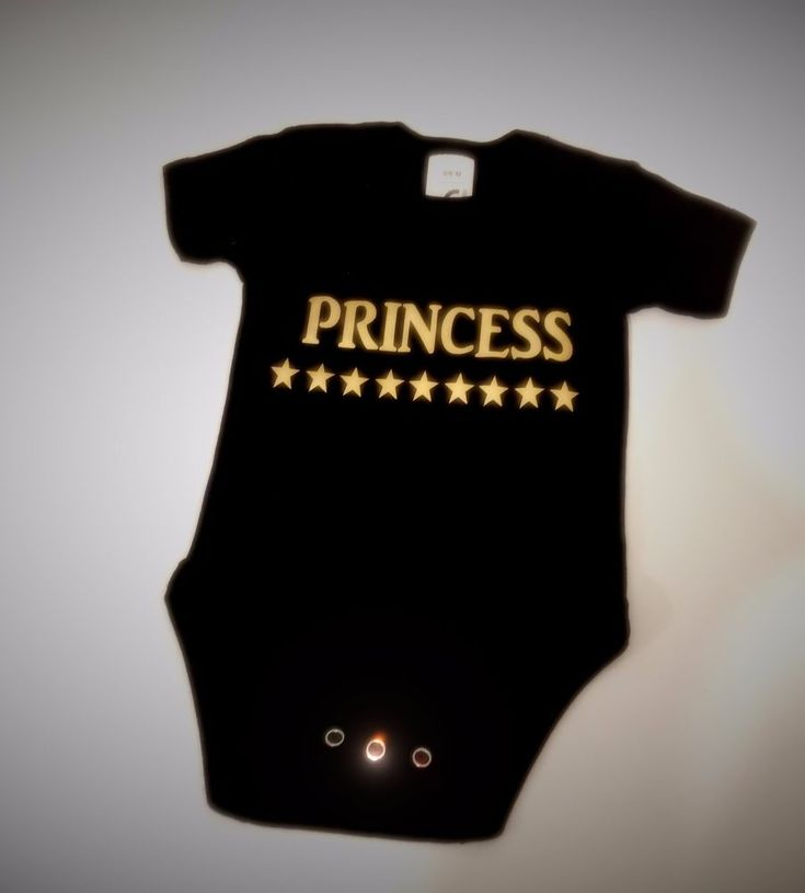 PRINCESS BABY GROW BODY SUIT VEST FOR COOL BABY GREAT BABY PRESENT PRINTED GOLD #Unbranded