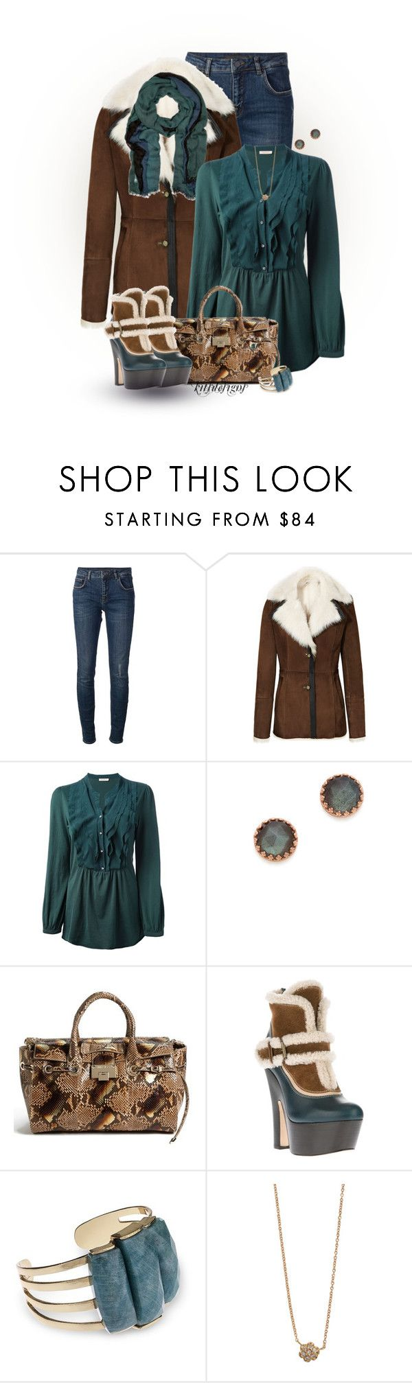 """""""Teal & Brown"""" by kitsdesigns ❤ liked on Polyvore featuring Victoria Beckham, Reiss, Erika Cavallini Semi-Couture, Heather Hawkins, Jimmy Choo, Dsquared2, Lola Rose and Ginette NY"""