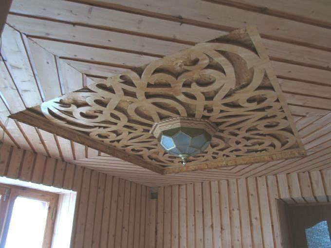 В данном мастер-классе мы сделаем фигурную вырезку из фанеры на потолок