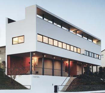 Double house by le Corbusier at Weissenhof in Stuttgart