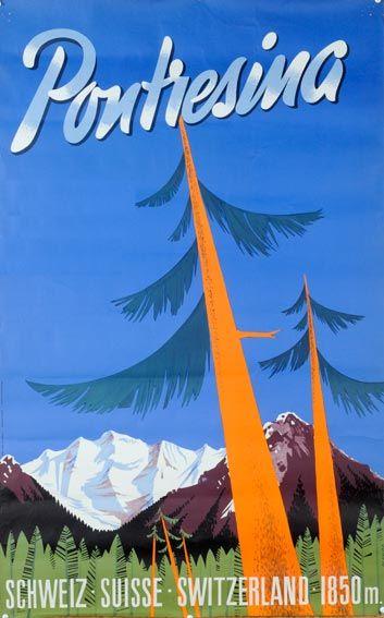 Pontresina  Schweiz, Suisse, Switzerland  1950