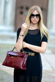 Street style ; Hermes bag