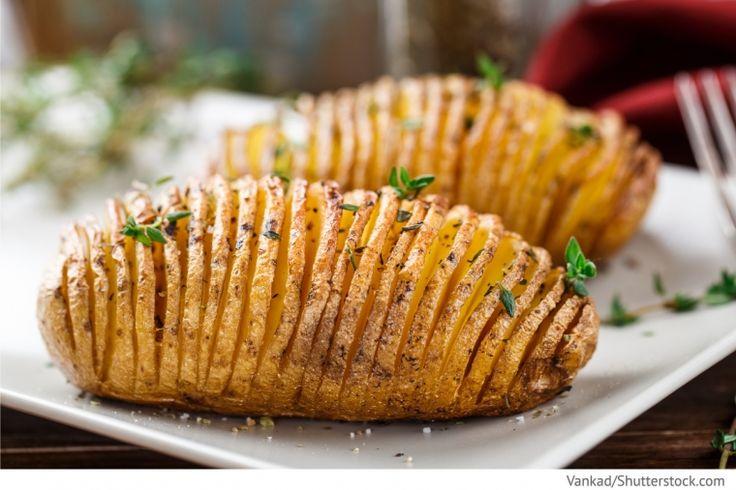 Fächerkartoffeln nach Schwedischer Art Narjadnaja Kartoschka po schwedski - Нарядная картошка по‑шведски - Russische Rezepte