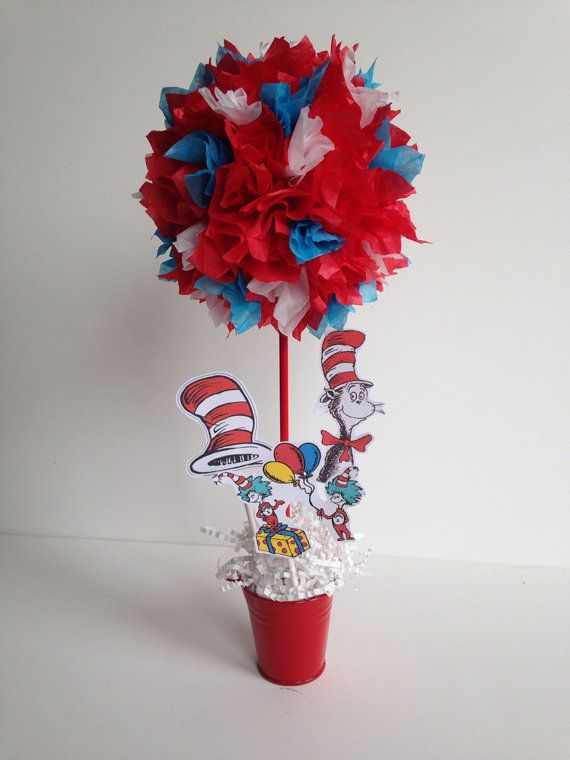 Cat In The Hat Birthday Centerpieces