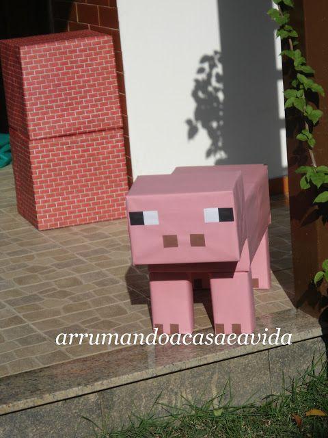 Cláudia Pinto: Festa de aniversário Minecraft.