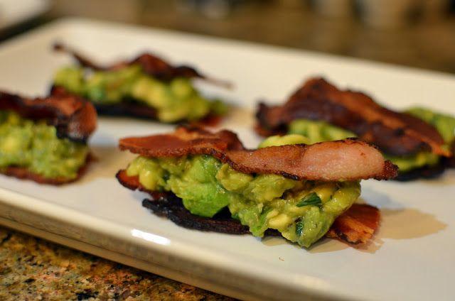 For a quick Paleo snack: Bacon and avocado sammies. http://paleoaholic.com/