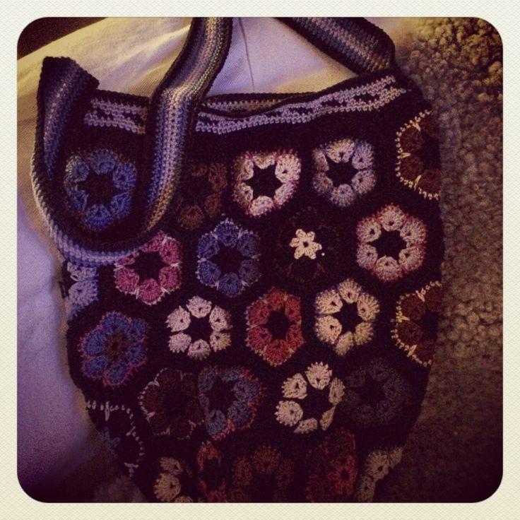 African flower bag !