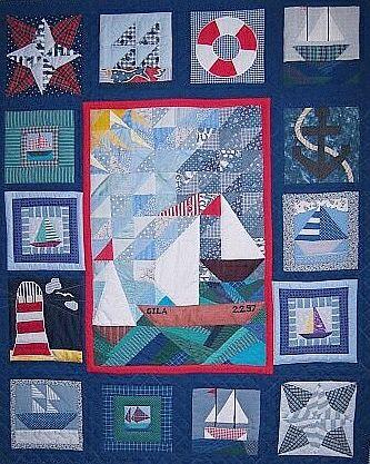 Nautical quilt.
