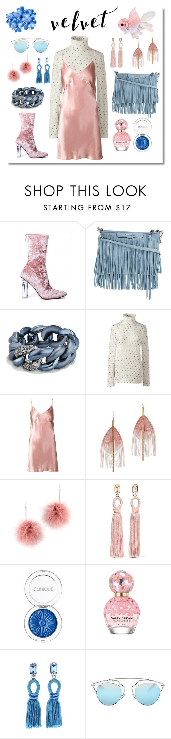 """Velvet rose"" by dilka-ylibka on Polyvore featuring мода, Rebecca Minkoff, David Yurman, Lands' End, Fleur du Mal, Serefina, Tuleste, Oscar de la Renta, Clinique и Marc Jacobs"