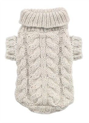 Angora Cable Knit Dog Sweater                                                                                                                                                      Mais