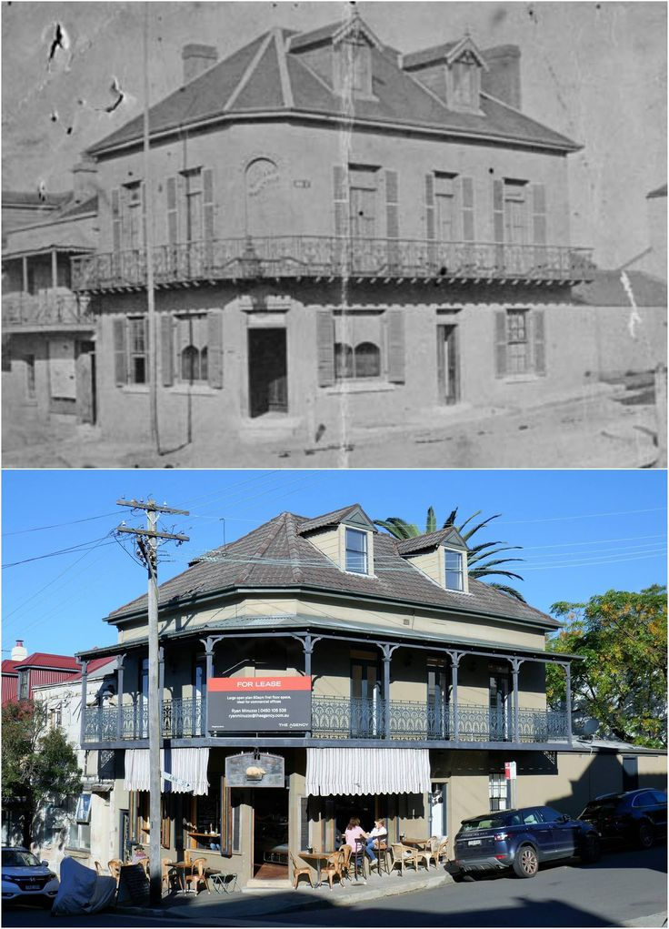 The Albion Hotel at the cnr of Darling & Ann Sts, Balmain 1873 > 2017 Ciao Thyme cafe. [National Archives of Australia > Kevin Sundgren. By Kevin Sundgren]