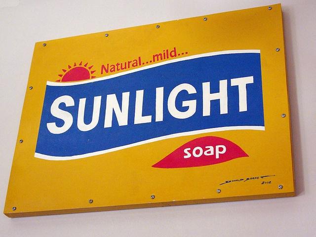 Sunlight soap metal sign by Donald Barnett, via Flickr