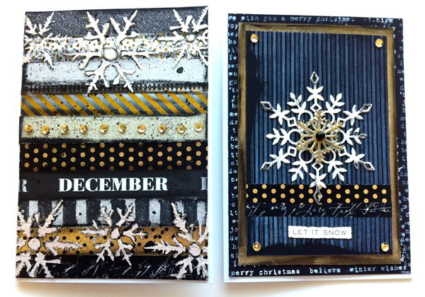 Made by Sannie: Two Let There Be Snow cards with video tutorial