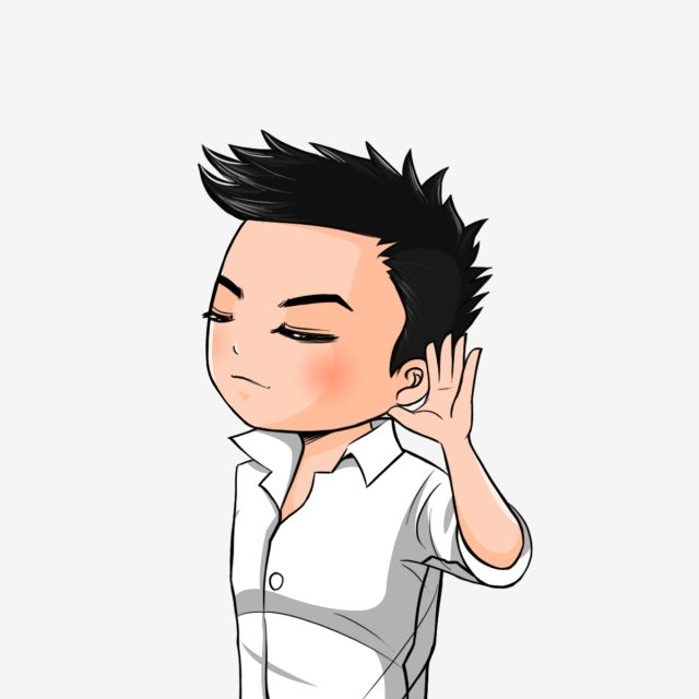 Chibi Boy Hearing Chibi Cartoon Boy Png Transparent Clipart