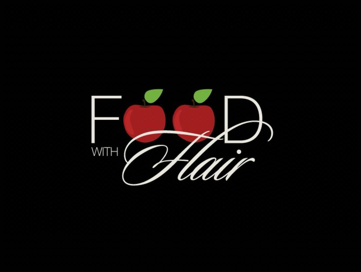 Food with flair. Logo design. www.missrubydesigns.co.za