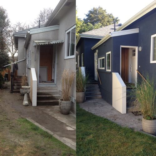 29 best images about before and afters on pinterest dresser makeovers home improvements and - Painting a stucco house exterior model ...