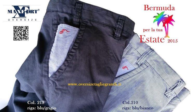 Maxfort 20780 Pantalone Corto Bermuda Uomo Taglia Forte - Abbigliamento Taglie Forti Uomo Donna