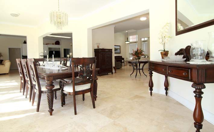 beige/cream #tile floor for dining room or living room. seville