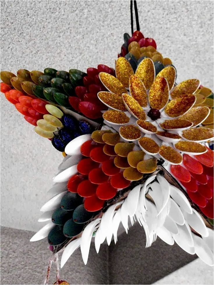 Decorate your Christmas tree, doors and wall with these funky and good looking ornaments made from recycled waste materials and have a very eco friendly ...