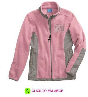 Monogrammed jacket.