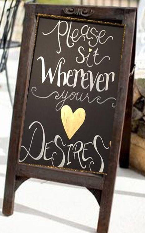 Custom, hand painted Wedding Signs