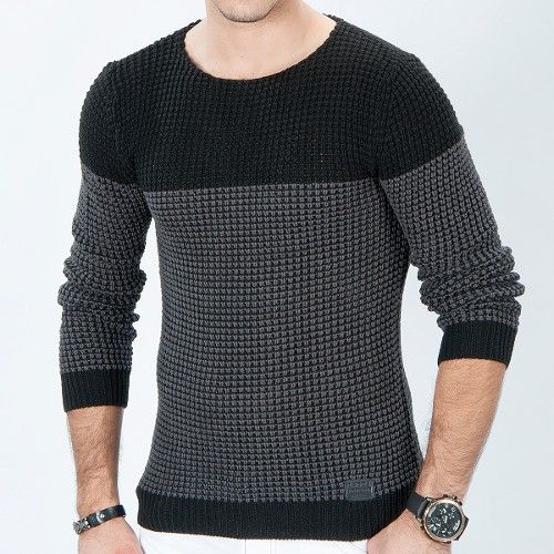 Çift renk örgü triko kazak siyah - füme ürünü, özellikleri ve en uygun fiyatların11.com'da! Çift renk örgü triko kazak siyah - füme, kazak kategorisinde! 472