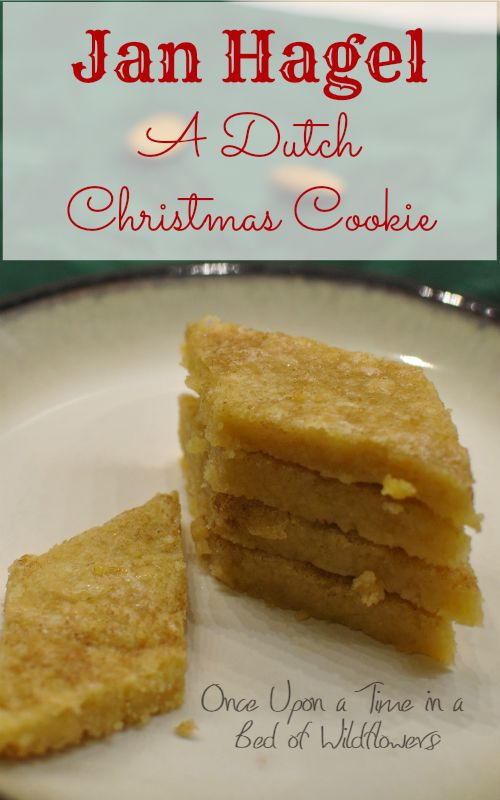 Looking for a quick, delicious holiday treat? Try the traditional Dutch Christmas Cookie Jan Hagel! Via Once Upon a Time in a Bed of Wildflowers