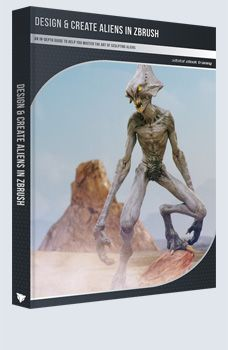 Design & Create Aliens in ZBrush eBook: An in-depth guide to help you master the art of sculpting aliens, including work from Kurt Papstein and Maarten Verhoeven!