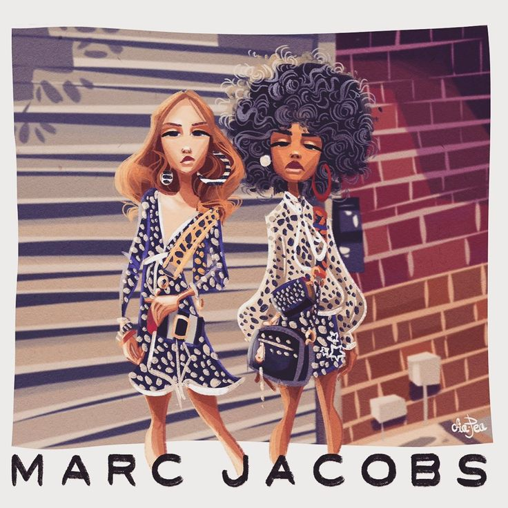 Marc Jacobs Summer '17   Illustration by Courtney Page