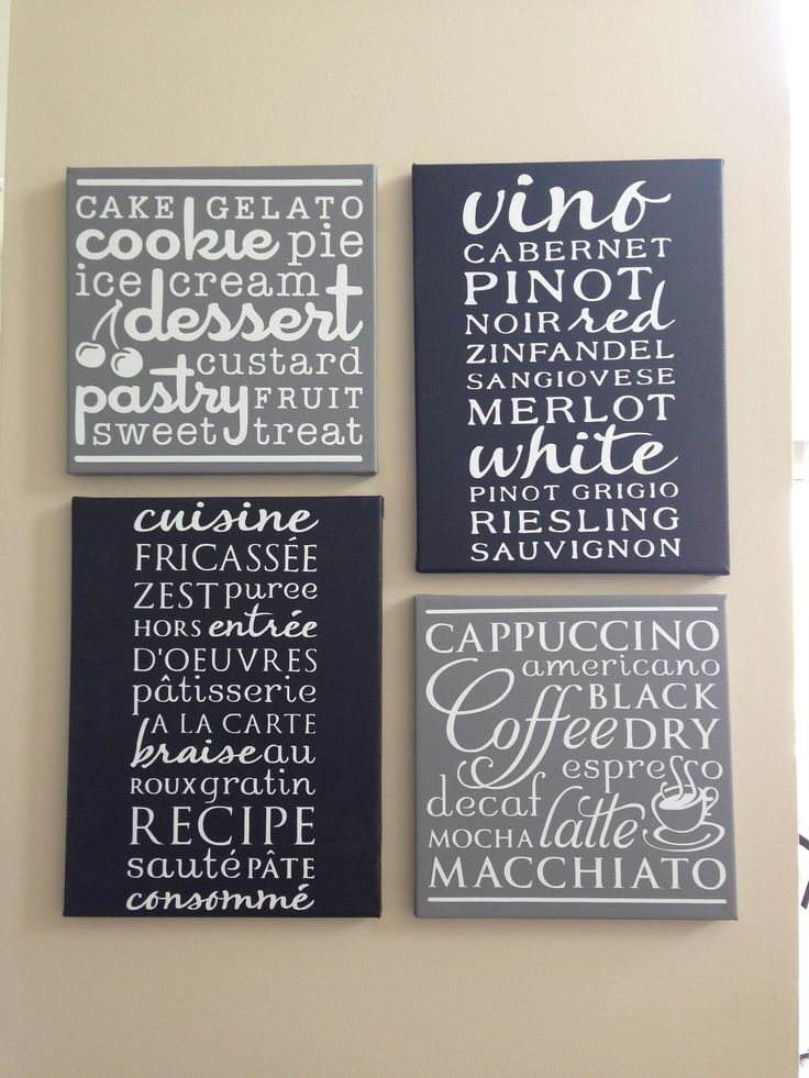 Cricut Kitchen Cartridge Ideas