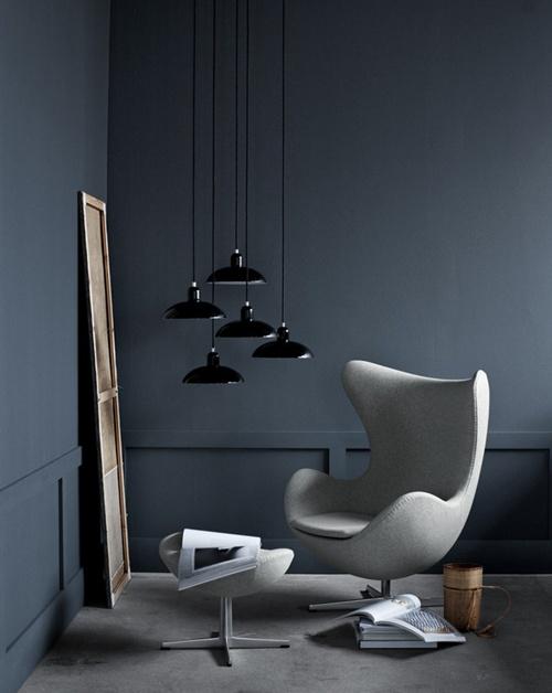 Chair & lamps | Fritz Hansen