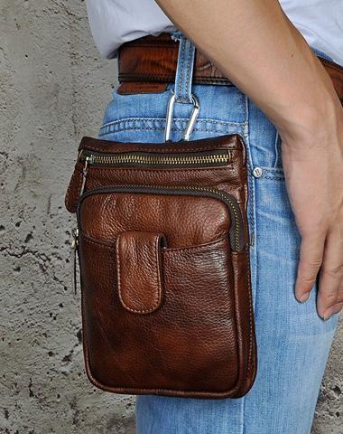 af11ba2fc2 Leather Mens Belt Pouch Waist Bag BELT BAG Shoulder Bag For Men ...