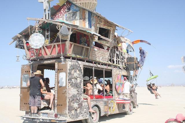 art car Burning man festival, Cool bikes